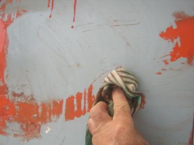 entfernung von ausgeh rteten pu schaum iso graffiti rost folie graffiti. Black Bedroom Furniture Sets. Home Design Ideas